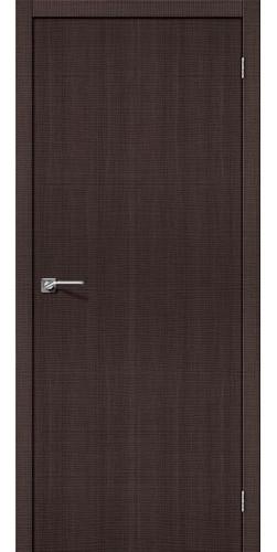 Дверь межкомнатная экошпон глухая Порта 50 цвет Wenge Crosscut