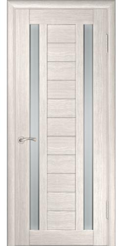 Дверь межкомнатная экошпон со стеклом ЛУ-28 капучино