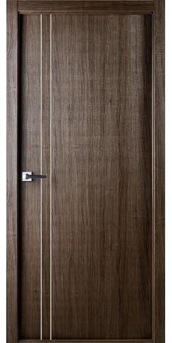 Межкомнатная дверь экошпон Юнита 208 ПГ серый дуб
