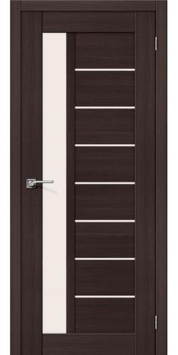 Межкомнатная дверь экошпон со стеклом Порта-27 Wenge Veralinga