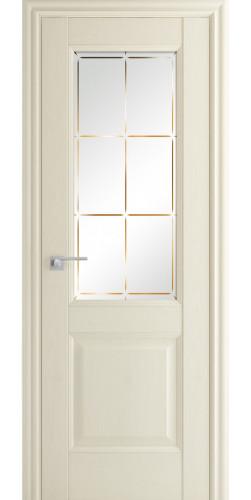 Дверь межкомнатная экошпон со стеклом 90Х цвет белый ясень