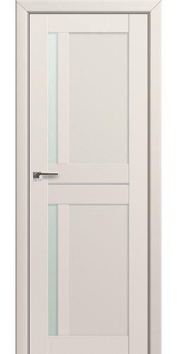 Межкомнатная дверь экошпон со стеклом 19U магнолия сатинат