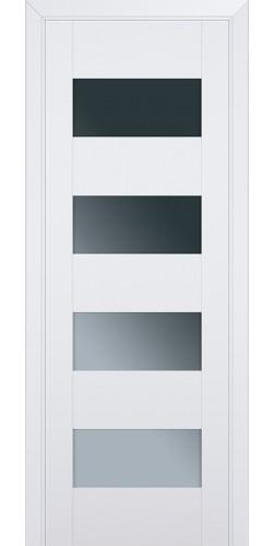 Межкомнатная дверь экошпон со стеклом 46U аляска