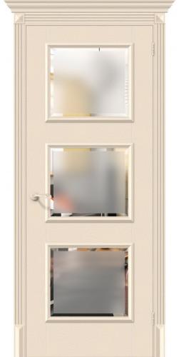 Межкомнатная дверь экошпон со стеклом Классико-17.3 Ivory