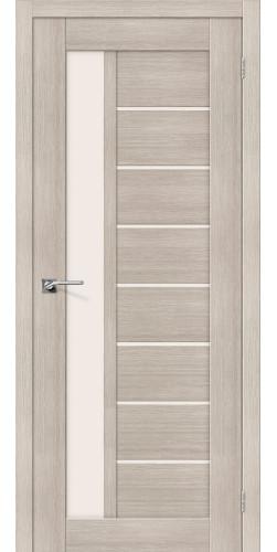 Межкомнатная дверь экошпон со стеклом Порта-27 Cappuccino Veralinga
