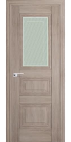 Межкомнатная дверь экошпон со стеклом 83Х орех пекан