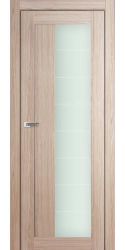 Дверь межкомнатная экошпон со стеклом 47Х цвет капучино мелинга