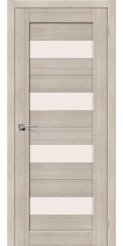 Дверь межкомнатная экошпон со стеклом Порта 23 цвет Cappuccino veralinga