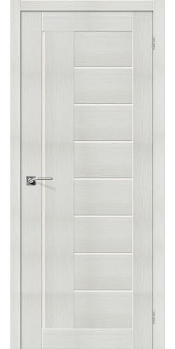 Дверь межкомнатная экошпон со стеклом Порта 29 цвет Bianco veralinga