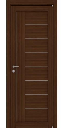 Межкомнатная дверь экошпон со стеклом Uberture 2110 орех вельвет