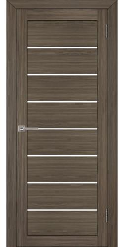 Межкомнатная дверь экошпон со стеклом Uberture 2125 графит