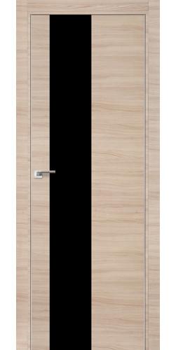 Межкомнатная дверь экошпон 5Z капучино кроскут черный лак