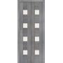 Межкомнатная дверь экошпон Порта 23 ДС grey veralinga