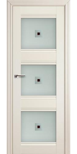 Дверь межкомнатная экошпон со стеклом 4Х цвет белый ясень