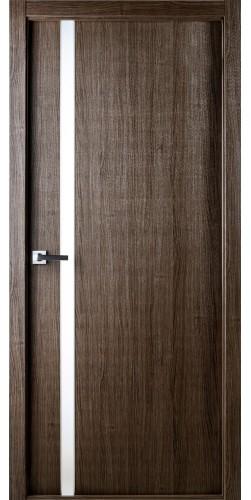 Межкомнатная дверь экошпон со стеклом Юнита 208 дуб серый