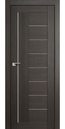 Дверь межкомнатная экошпон со стеклом 17Х цвет мелинга грей
