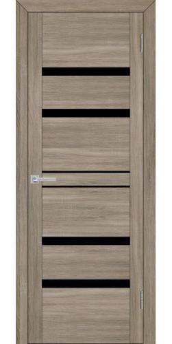 Дверь межкомнатная Uberture 30030 со стеклом экошпон цвет серый велюр