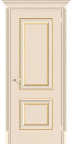 Дверь межкомнатная экошпон глухая Классико-32G-27 цвет Ivory