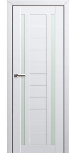 Дверь межкомнатная экошпон со стеклом 15U цвет аляска