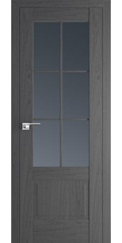 Межкомнатная дверь экошпон со стеклом 103Х пекан темный