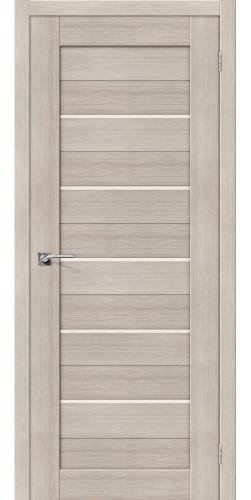 Дверь межкомнатная экошпон со стеклом Порта 22 цвет Cappuccino veralinga