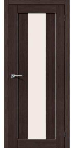 Дверь межкомнатная экошпон со стеклом Порта 25 цвет Wenge veralinga