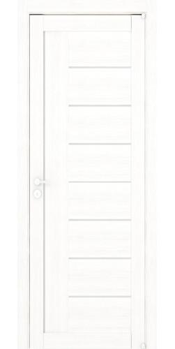 Дверь межкомнатная Uberture 2110 со стеклом экошпон цвет белый велюр
