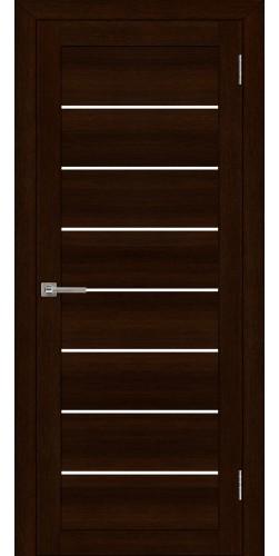 Межкомнатная дверь экошпон со стеклом Uberture 2125 дуб шоколадный