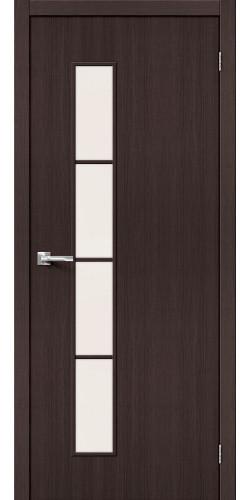 Межкомнатная дверь экошпон со стеклом Тренд 4 Wenge Veralinga