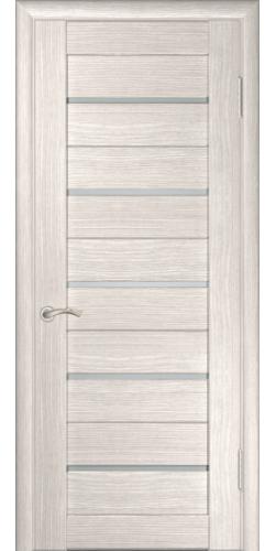 Межкомнатная дверь экошпон со стеклом ЛУ-22 капучино