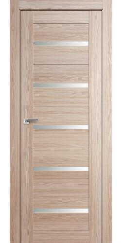 Дверь межкомнатная экошпон со стеклом 7Х цвет капучино