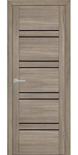 Дверь межкомнатная Uberture 30026 со стеклом экошпон цвет серый велюр