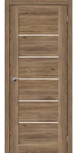 Дверь межкомнатная экошпон со стеклом Легно 22 цвет Original Oak