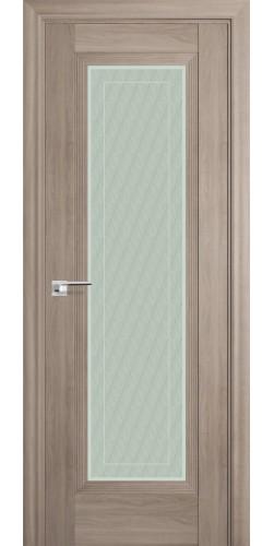 Межкомнатная дверь экошпон со стеклом 85Х орех пекан