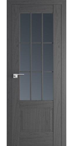 Межкомнатная дверь экошпон со стеклом 104Х пекан темный