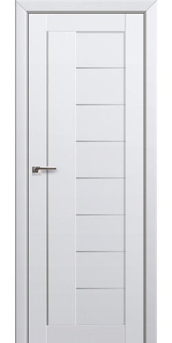 Межкомнатная дверь экошпон со стеклом 17U аляска