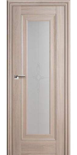 Межкомнатная дверь экошпон со стеклом 24Х орех пекан