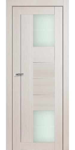 Дверь межкомнатная экошпон со стеклом 43Х цвет эш вайт мелинга