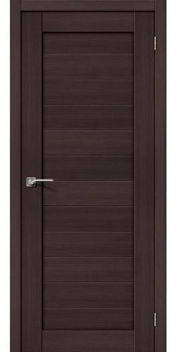 Дверь межкомнатная экошпон глухая Порта 21 цвет Wenge veralinga