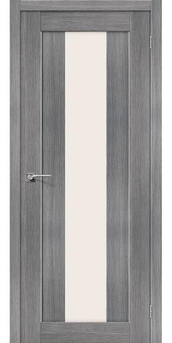 Межкомнатная дверь экошпон со стеклом Порта 25 Grey veralinga