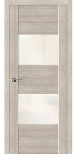 Дверь межкомнатная экошпон со стеклом VG2 VP цвет Cappuccino veralinga