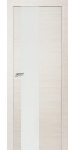 Межкомнатная дверь экошпон 5Z эшвайт кроскут белый лак