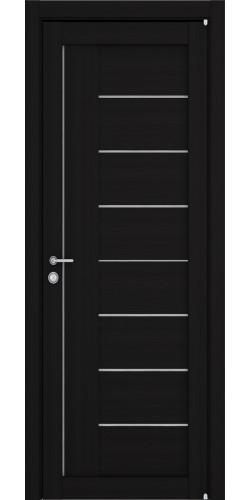 Дверь межкомнатная Uberture 2110 со стеклом экошпон цвет шоко велюр