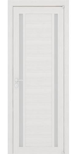 Межкомнатная дверь экошпон со стеклом Uberture 2122 капучино велюр