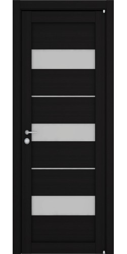 Дверь межкомнатная Uberture 2126 со стеклом экошпон цвет шоко велюр