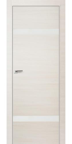 Межкомнатная дверь экошпон 3Z эшвайт кроскут белый лак