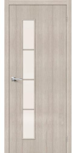 Межкомнатная дверь экошпон со стеклом Тренд 4 Cappuccino Veralinga