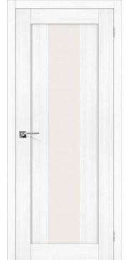 Дверь экошпон Порта 25 alu ПО Snow Veralinga