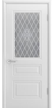 Дверь эмаль Трио Грейс ДО белый