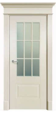 Дверь эмалированная Оксфорд 2 ДО белый